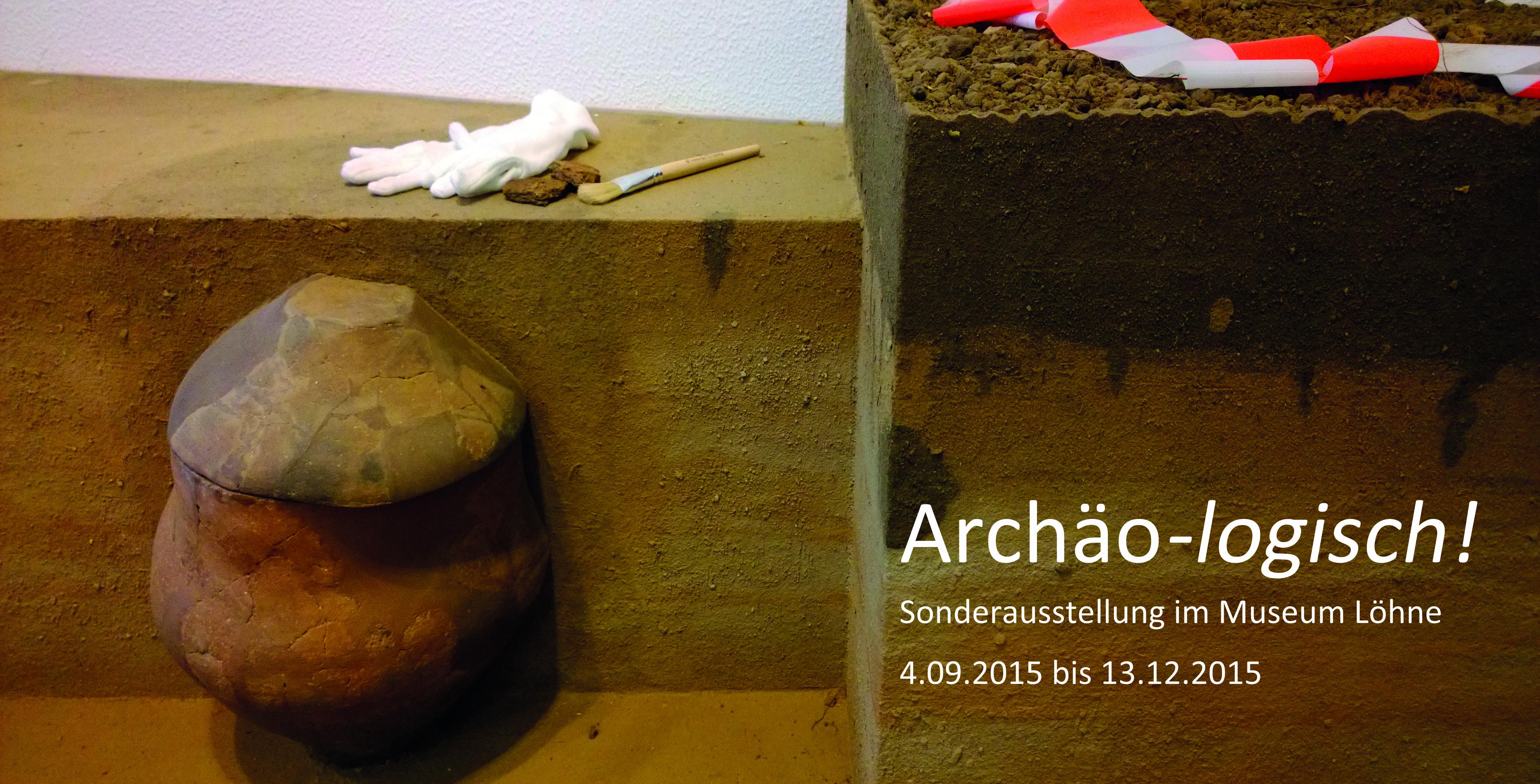 Archaeologie Einladung Vorderseite